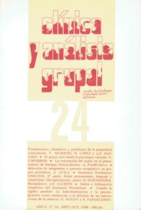 Portada de Clínica y Análisis Grupal 24