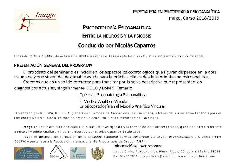 Curso Psicopatología (Nicolás Caparrós)