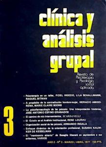 Clínica y análisis grupal número 3